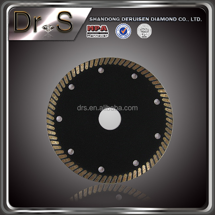 180mm sintered diamond saw blade contour/concave blade for cutting granite and