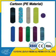 Custom Different Shape Color Printed Band Aid /Medical Waterproof Wound Adhesive Plaster Manufacturer
