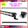 "Waterproof 25"" Single row mini offroad led light bar 72W thin led laser light bar"