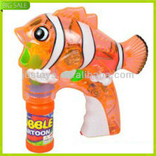 New funny toy kids fish bubble gun for hot selling