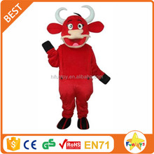 Funtoys CE Red Ox Cow Mascot Costume for Adult