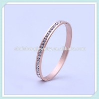 New style rose gold indian american diamond bangle designs