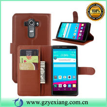 For LG G4 Flip Cover, Hot Selling PU Leather Phone Case For LG G4