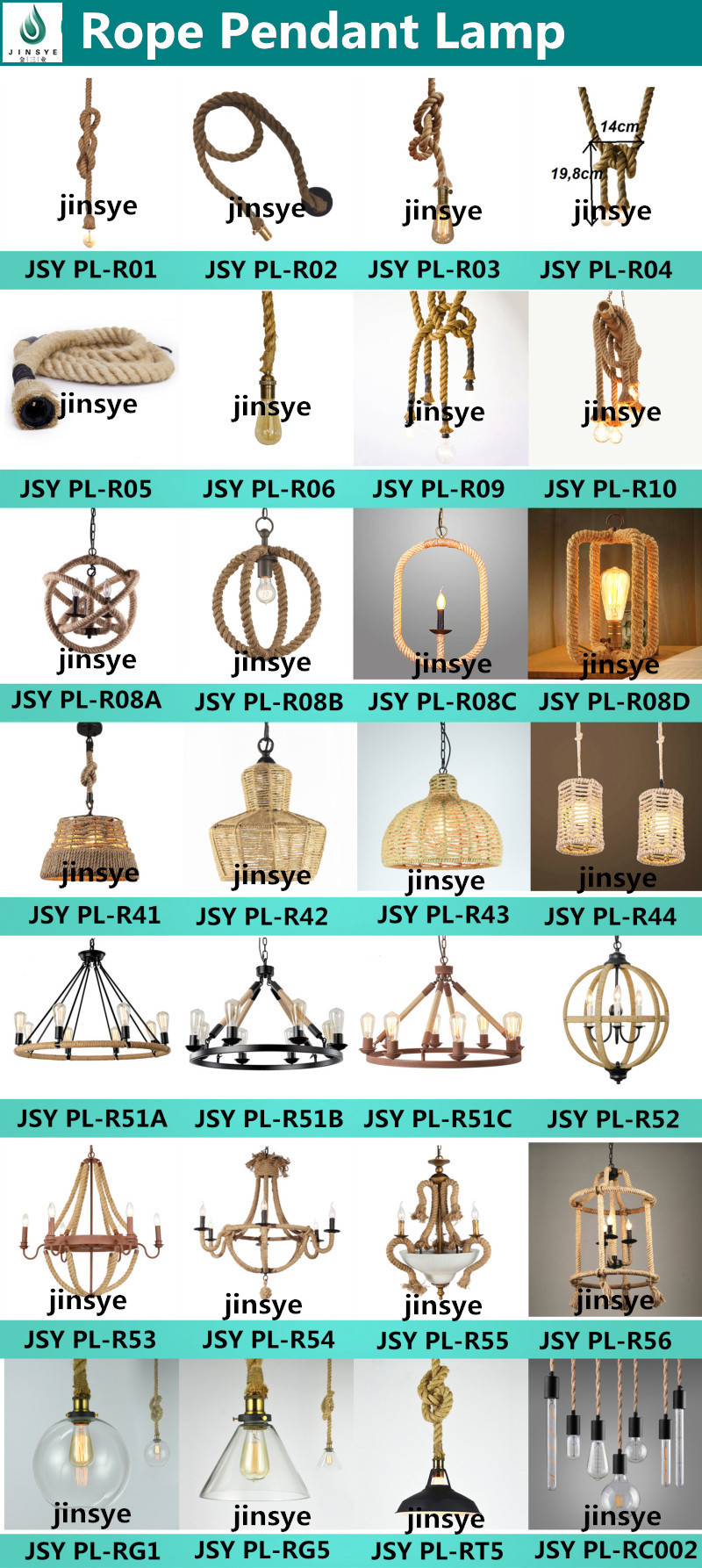 6.Rope Pendant Lamp