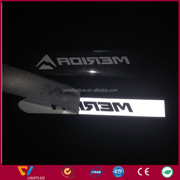 High visible reflective heat transfer film for laser cutting logo