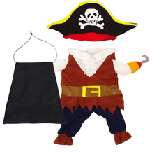 Wholesale The Pirate Captain Design Warm Pet Clothing Dogs cat Cosplay costume
