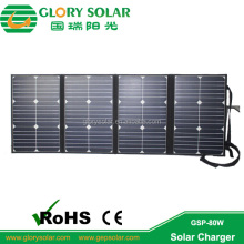 22% Highest Efficiency 20V Foldable Flexible Solar Panel 80W For Emergency Power Supply