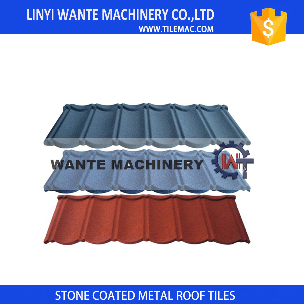 Cheap brown stone-coated metal roofing tiles With Good Service