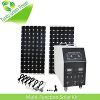 200 watt Portable Solar Power System for Home/Camping Use with LED Bulbs and Phone Charger and LCD display