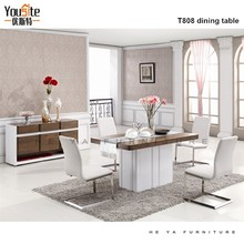 mdf dining set Compact one leg Dining Table And Chairs