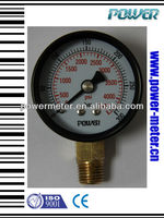 60mm black steel case brass connection high pressure burdon tube barometer