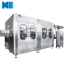 Bottled water filling bottling packaging machine line project in pet bottles equipment china