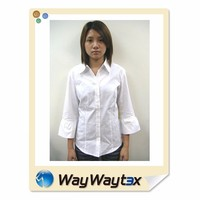 OEM fashion ladies cotton plain shirt made in China