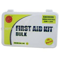10 Person Plastic Case Bulk First Aid Kit