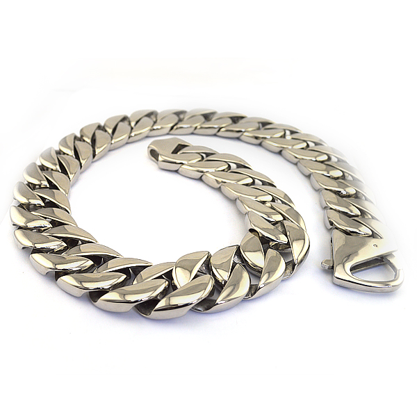 Vintage silver tone high quality unisex hip hop jewelry necklace