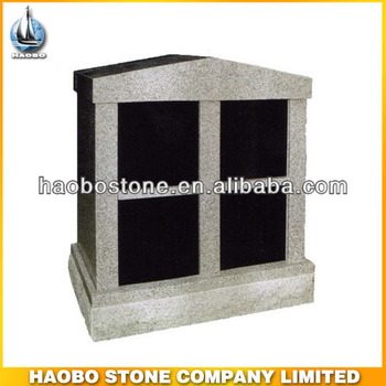 American Design Black Granite 4 Niches Columbarium