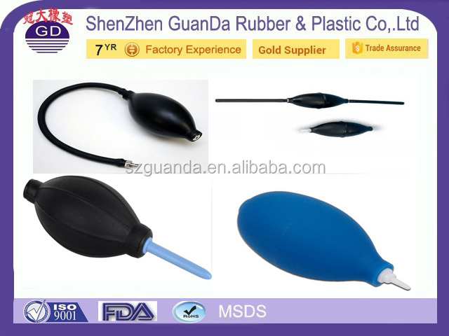 Customized Medical blood pressure silicone inflation bulb with valve