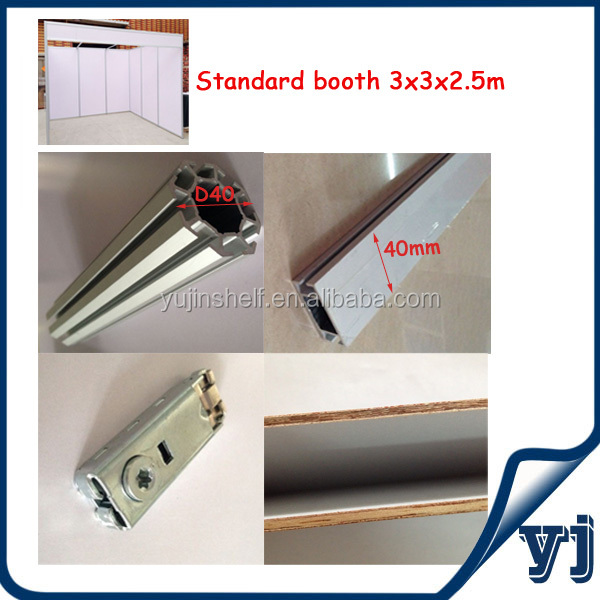 Aluminium profile/aluminum bar for trade show booth/shell scheme booth/ exhibition booth