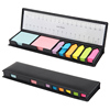 INTERWELL LKM100 Sticky Notes Memo Set, Custom Sticky Note in Leather Case