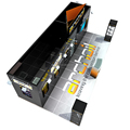 Detian Offer 20x30ft Black Generous Exhibition Stand with Hang Banner
