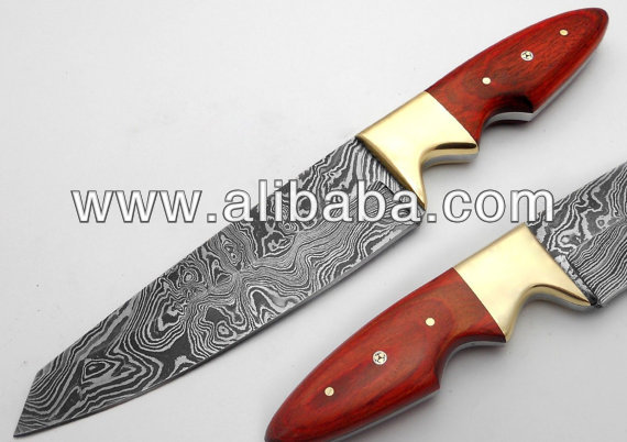 Custom Made Awesome Damascus Steel Chef Kitchen Knife