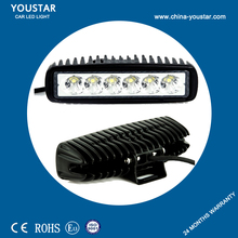 6 inch magnetic led work light, 18w led working light, 12v car 4x4 18w light bar