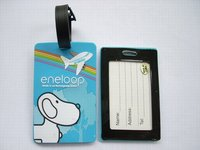 newest embossing white cute dog soft pvc airline luggage tags