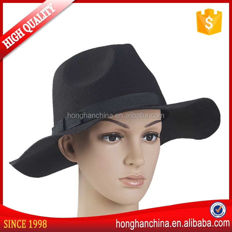 New Arrival Black Wholesale Cheap Fedora Hat