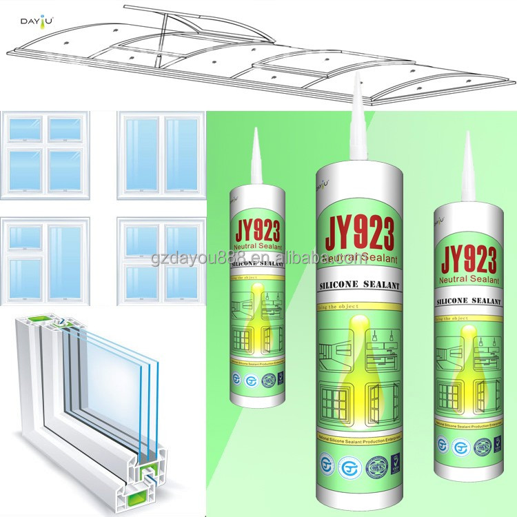 JY923 Single component fast dry high adhesion waterproof glass curtain wall silicone sealant