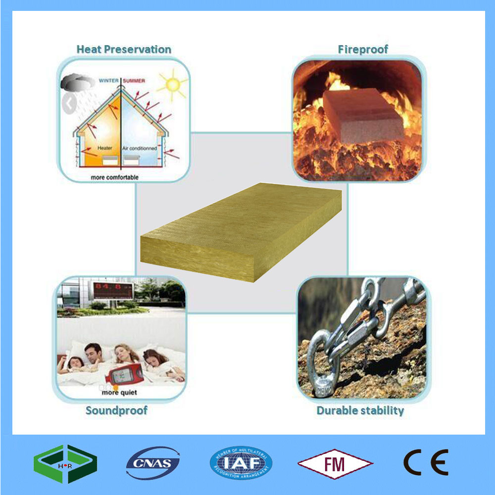 Low Price Heat Insulation Mineral Sandwich Panel Rock Wool Board
