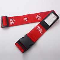 Wholesale Adjustable Luggage Strap,Suitcase Polyester Luggage Belt With Name Tags