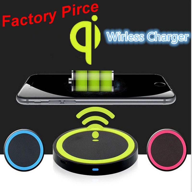 Wholesale universal wireless cellphone charger plate for samsung galaxy S6 S7 S8 edge for Iphone 5 6 7 8 pus qi wireless charger