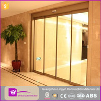 automatic alumminum profile sliding tempered glass sensor door high quality with CE certificate