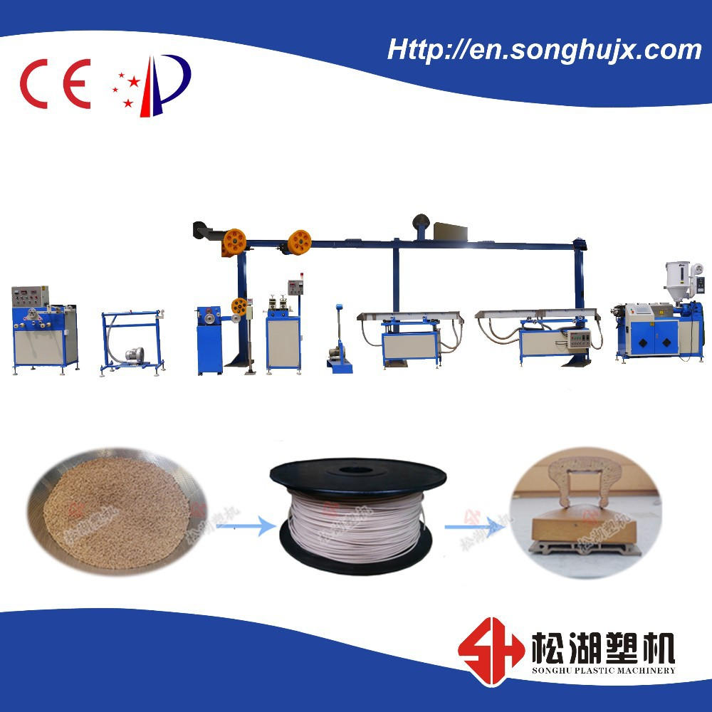 wood-plastic composition 3D printer filament making machine/ extrusion line