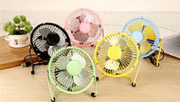 Hot selling Summer must-have 360 degree rotation portable 4 inch mini usb fan