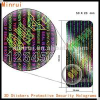 "Security Holograms Labels,3D Hologram Stickers Protective ""Seal and Protect"" Tamper Evident With Serial Numbers"