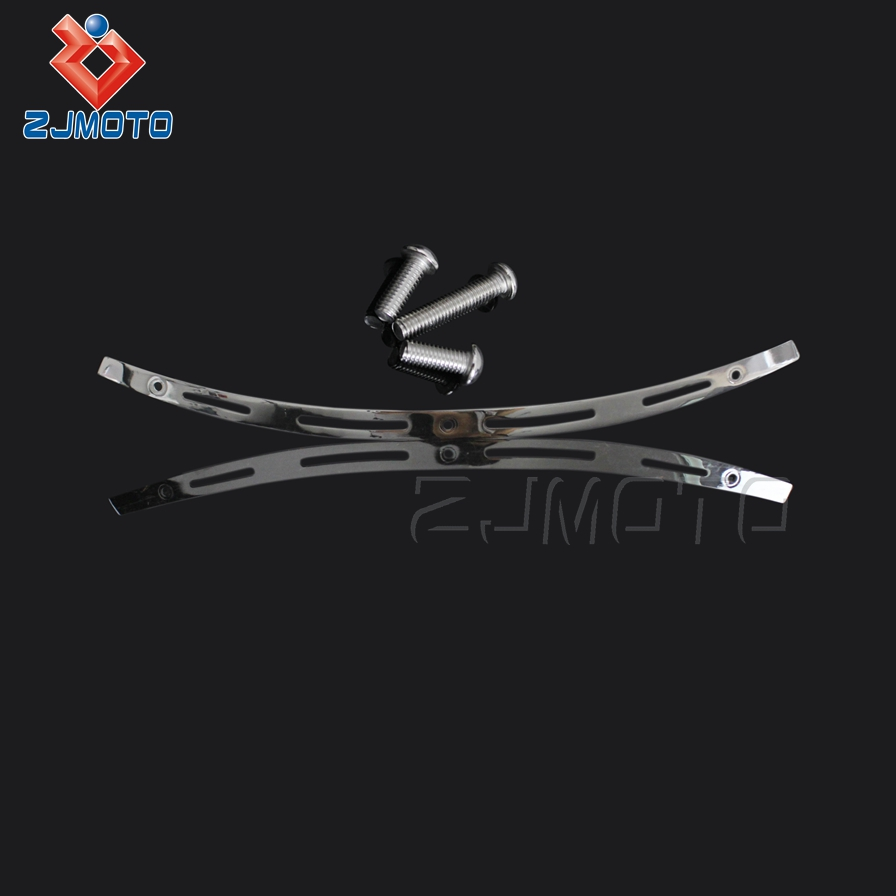 Zjmoto High Quality Stainless Steel Motorcycle Windshield Trim Fit For Harley Electra Street Tri Glide Touring Bike