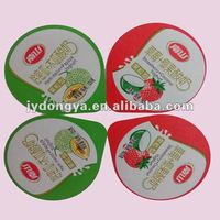 aluminum foil easy open sealing yogurt cup