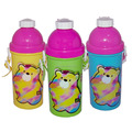 Popular Pop up cover water bottles with straw for kids