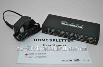 Real 1.4v HDMI splitter 1x4, full HD, full 3D, support 4K x 2K resolution