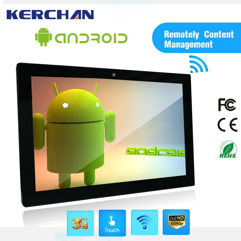 21.5 inch Android Touch Screen MP4 Player WIFI,android 32 inch digital media advertising