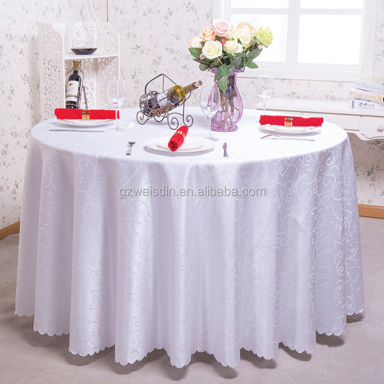 High Quality Fancy Wedding Table Cloths,Round Polyester Table Cloth For Buanquet