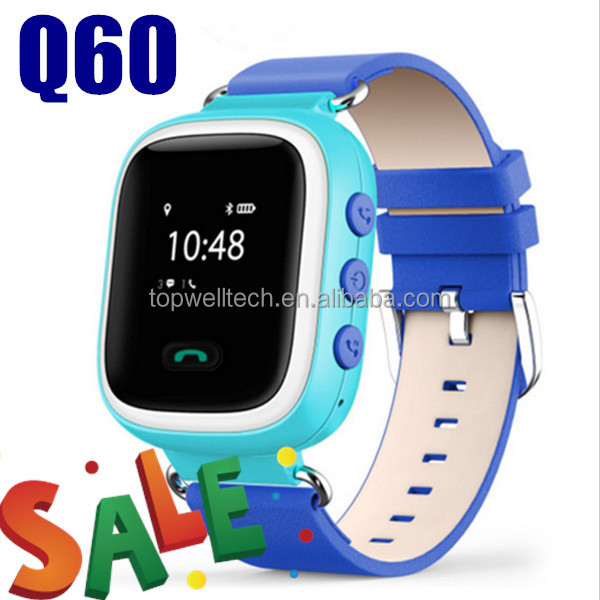 2017 promotion products Kid Safe GPS Q60 Chil touch screen smart watch SOS Call Location Finder Locator Tracker