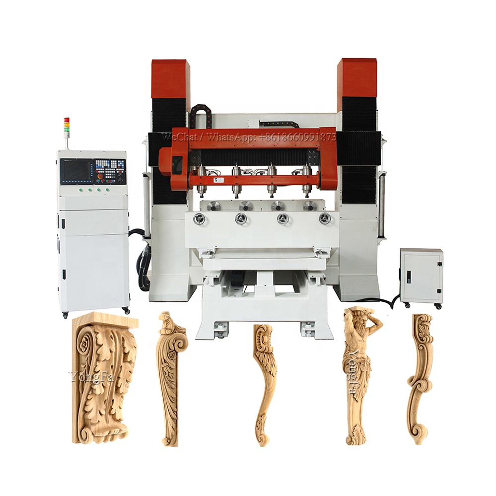 4 heads 3d 5 axis multi head automatic wood sofa making machine <strong>cnc</strong> <strong>router</strong>
