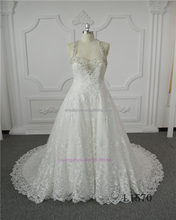 Halter silver beading decoration A line alibaba women bridal gown wedding dresses 2017