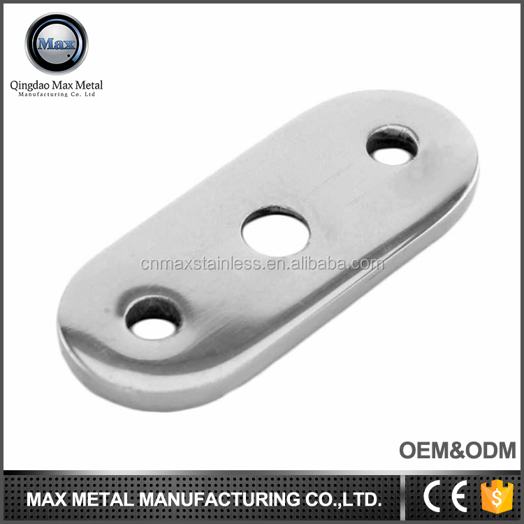 Free sample stainless steel wall mounted removable handrail bracket, glass deck railing bracket