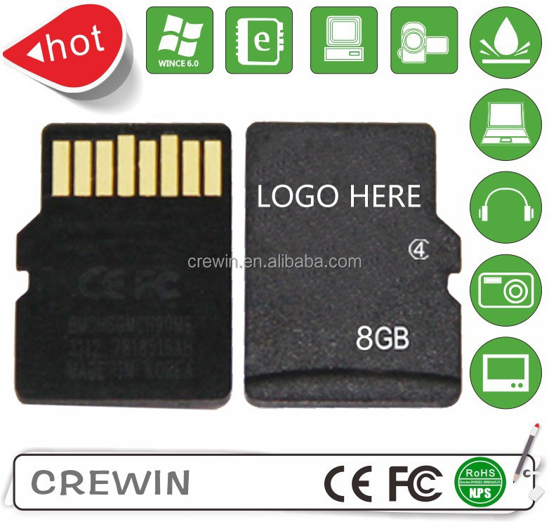 Free shipping factory real and full 8gb micro Memory sd card class6 with free adapter