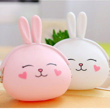 Rabbit ears silicone coin purse /silicone rubber coin purse with custom logo