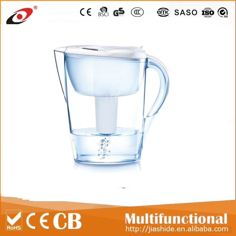 2016 new style household oem water purifier pitcher alkaline activated carbon rainbow water filter
