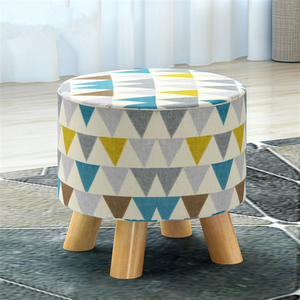 Change Shoes Short Round Wood Stools Cheap Children'S Wooden Stool